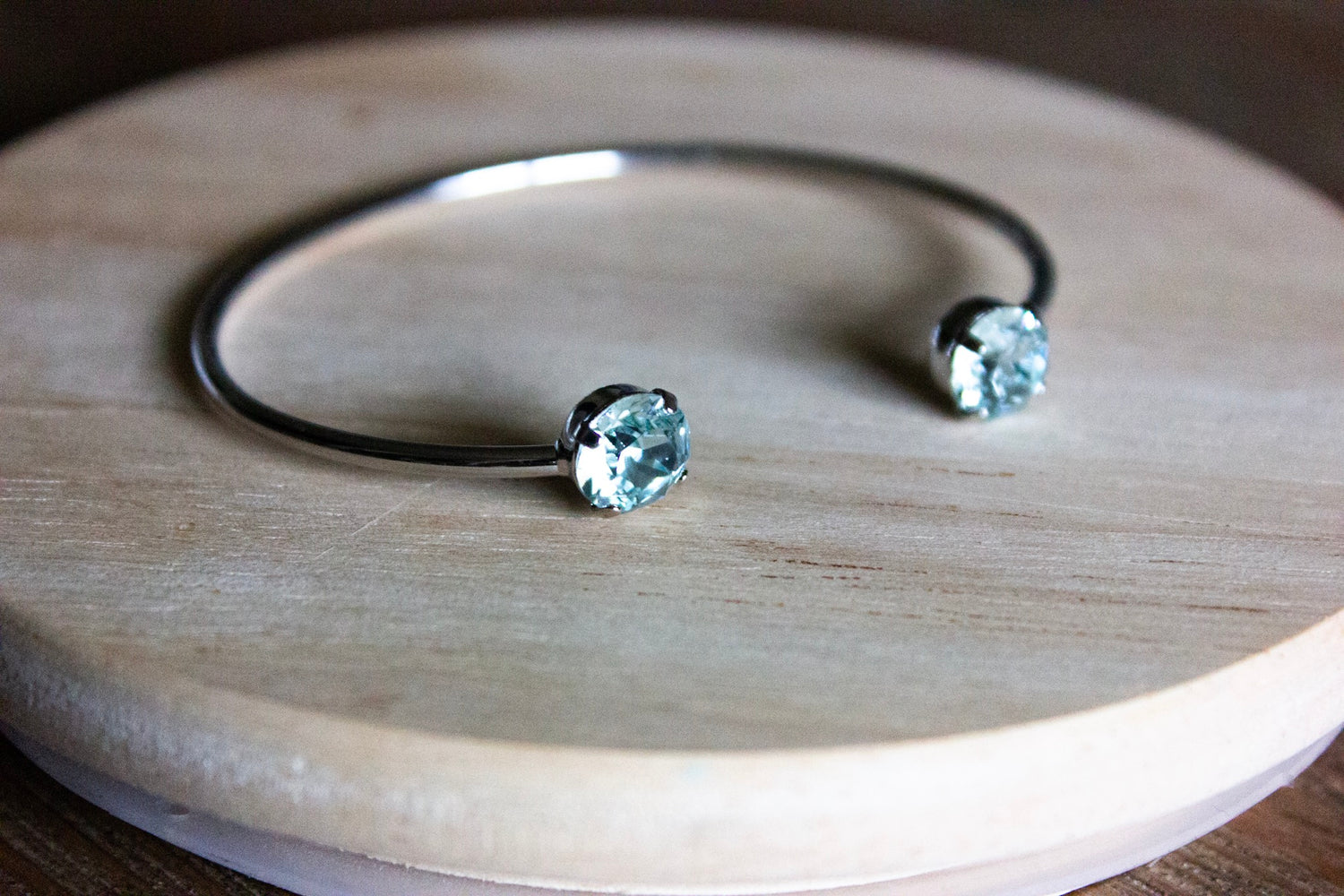 Pale Turquoise Swarovski Balance Bangle