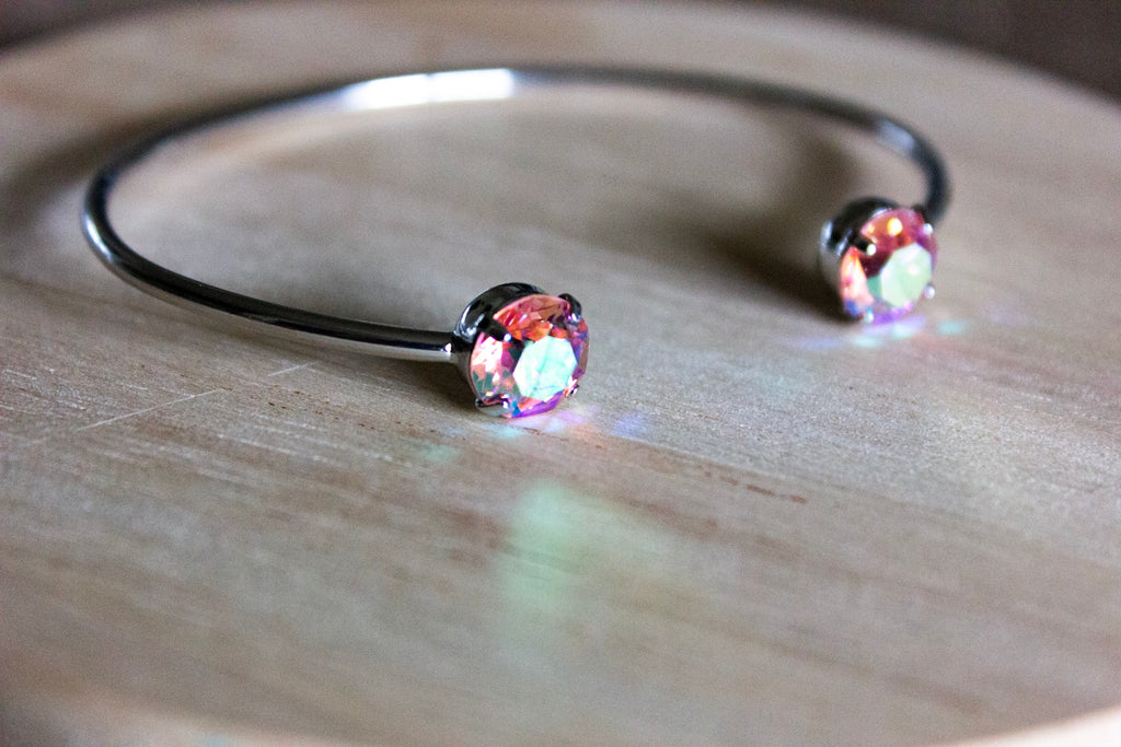 Light Rose Swarovski Balance Bangle