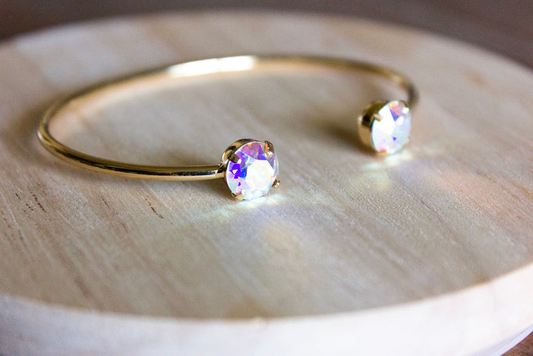 Crystal Aurora Swarovski Balance Bangle