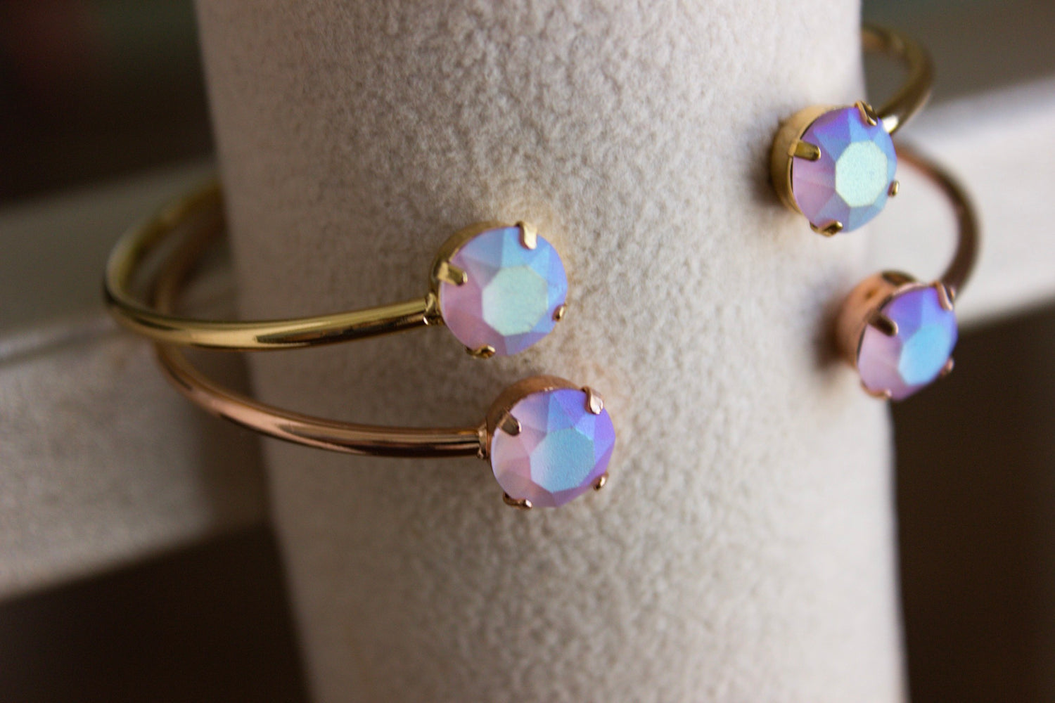 Pastel Lavender Swarovski Balance Bangle - Limited