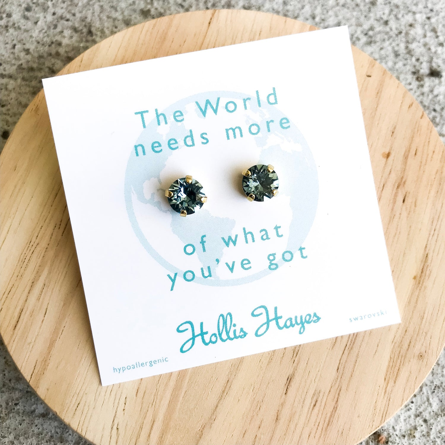 Indian Sapphire Swarovski studs - The world needs more of what you've got