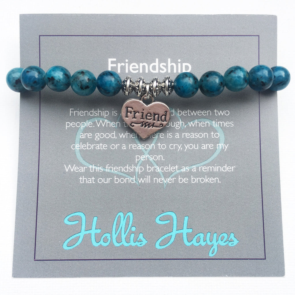 Friendship - blue sesame jasper