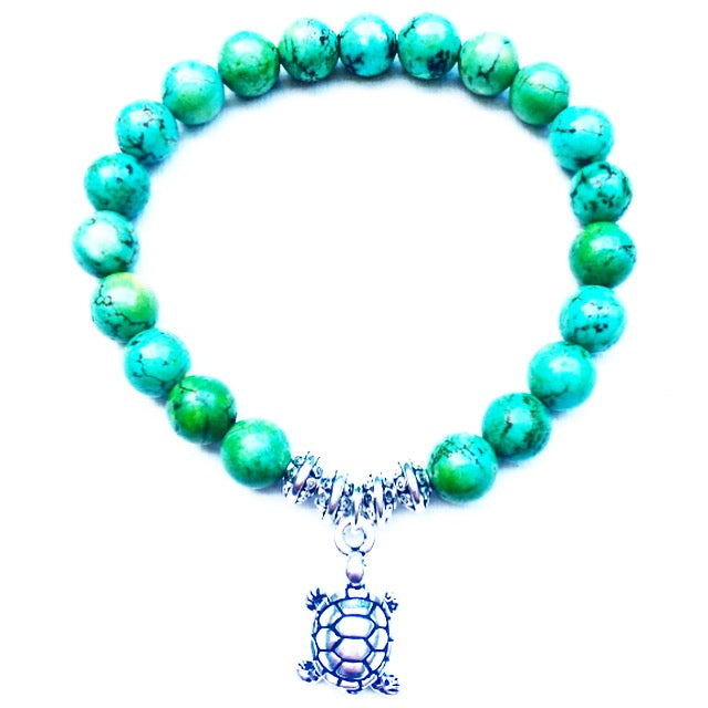 Turtle - Turquoise Green Howlite