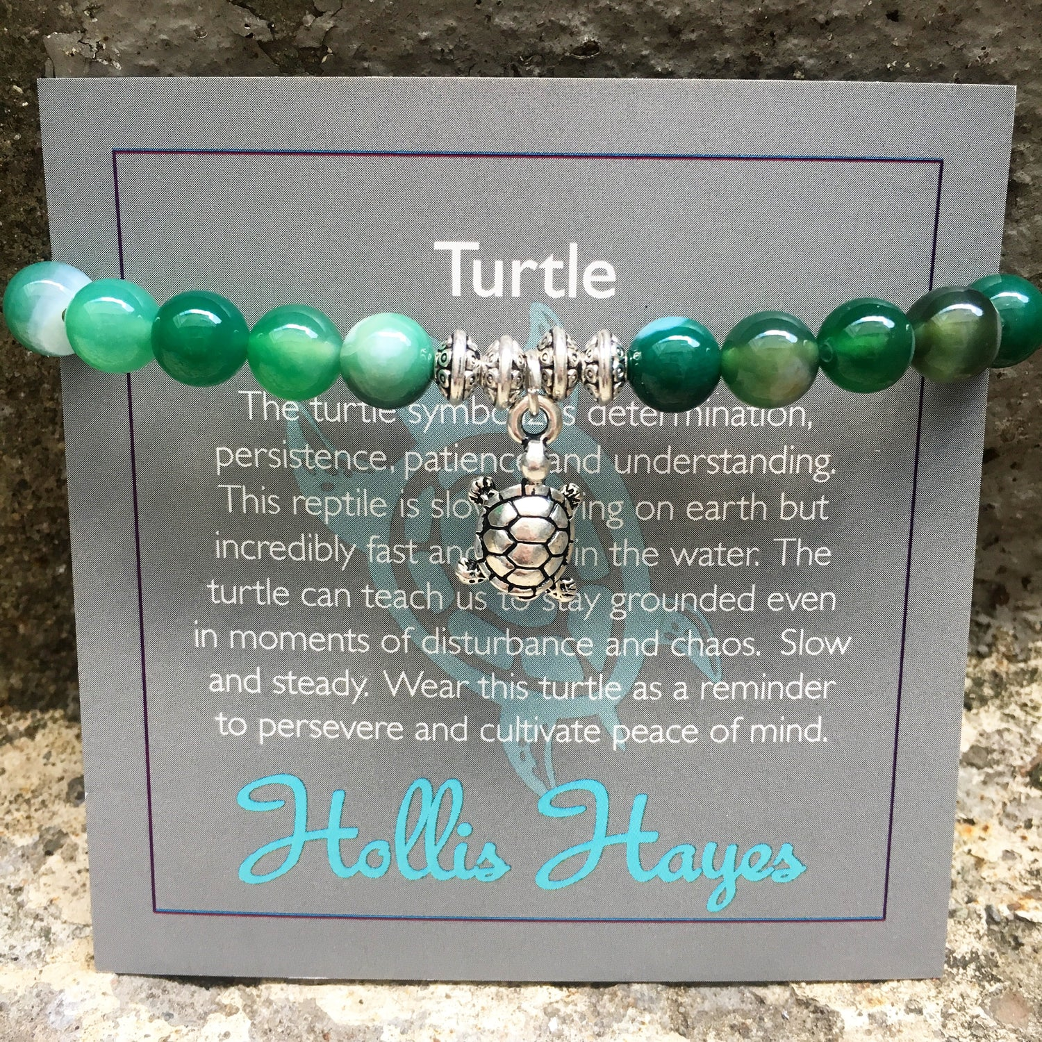 Turtle - Green Agate