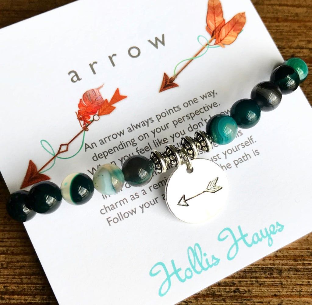 Arrow ~ Green Line Agate