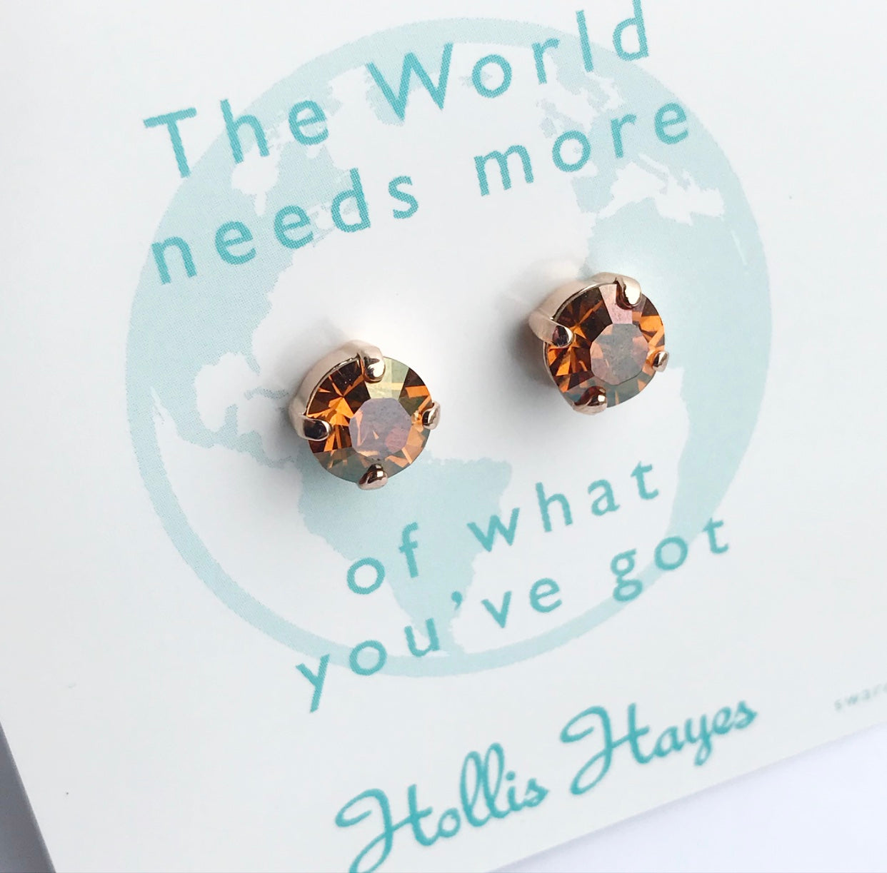 Earrings of the week - Copper & Rose Gold