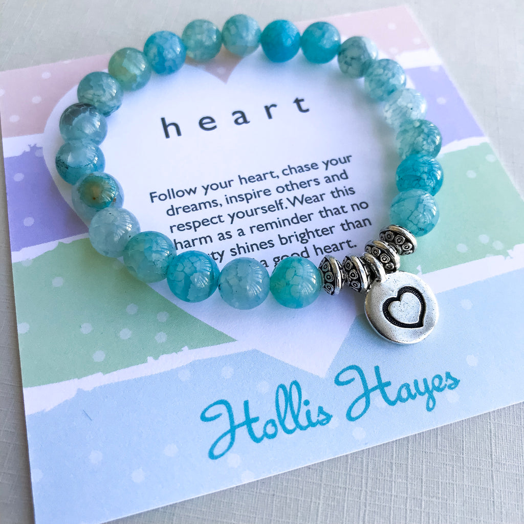 Heart - Blue Agate