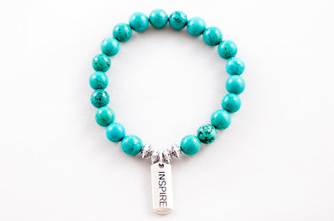 Inspire Tag ~ Turquoise Blue Howlite