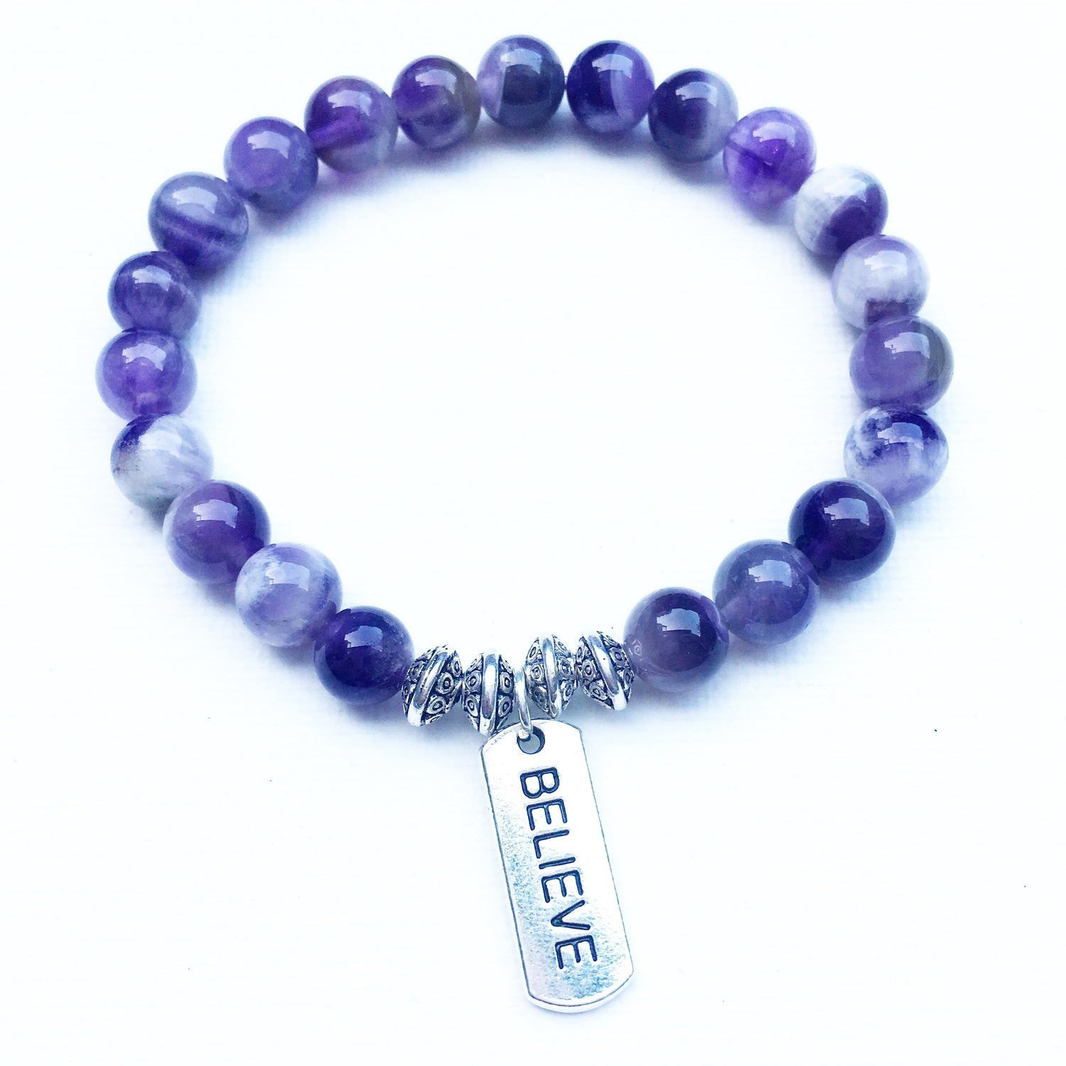 Believe Tag - Dogtooth Amethyst