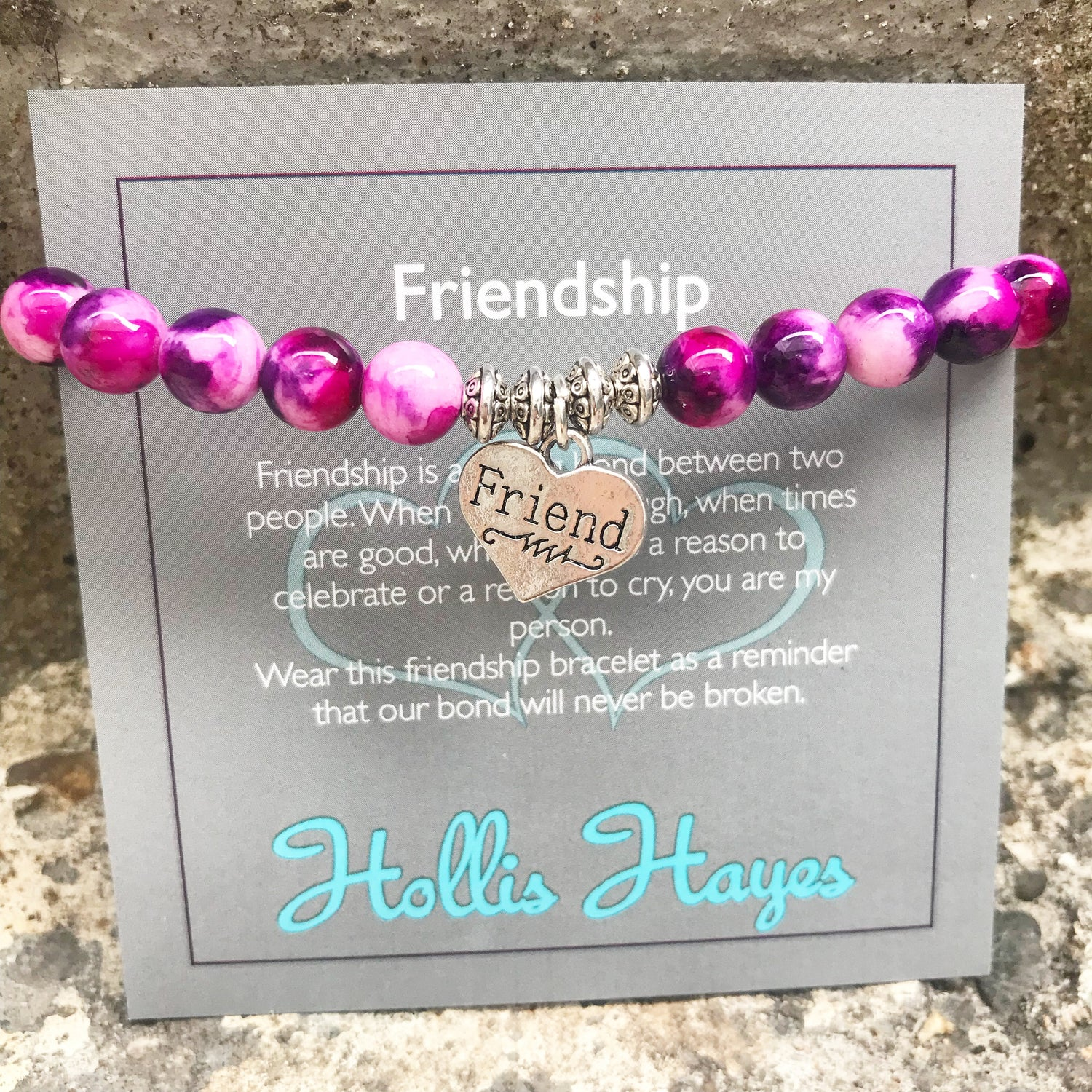 Friendship - Magenta Rainbow Jade