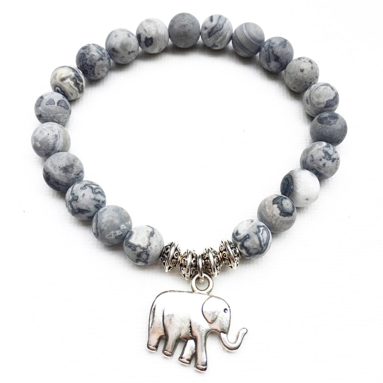Elephant - Gray picture jasper