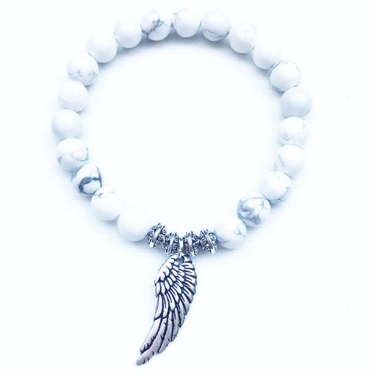 Angel Wing - White Howlite