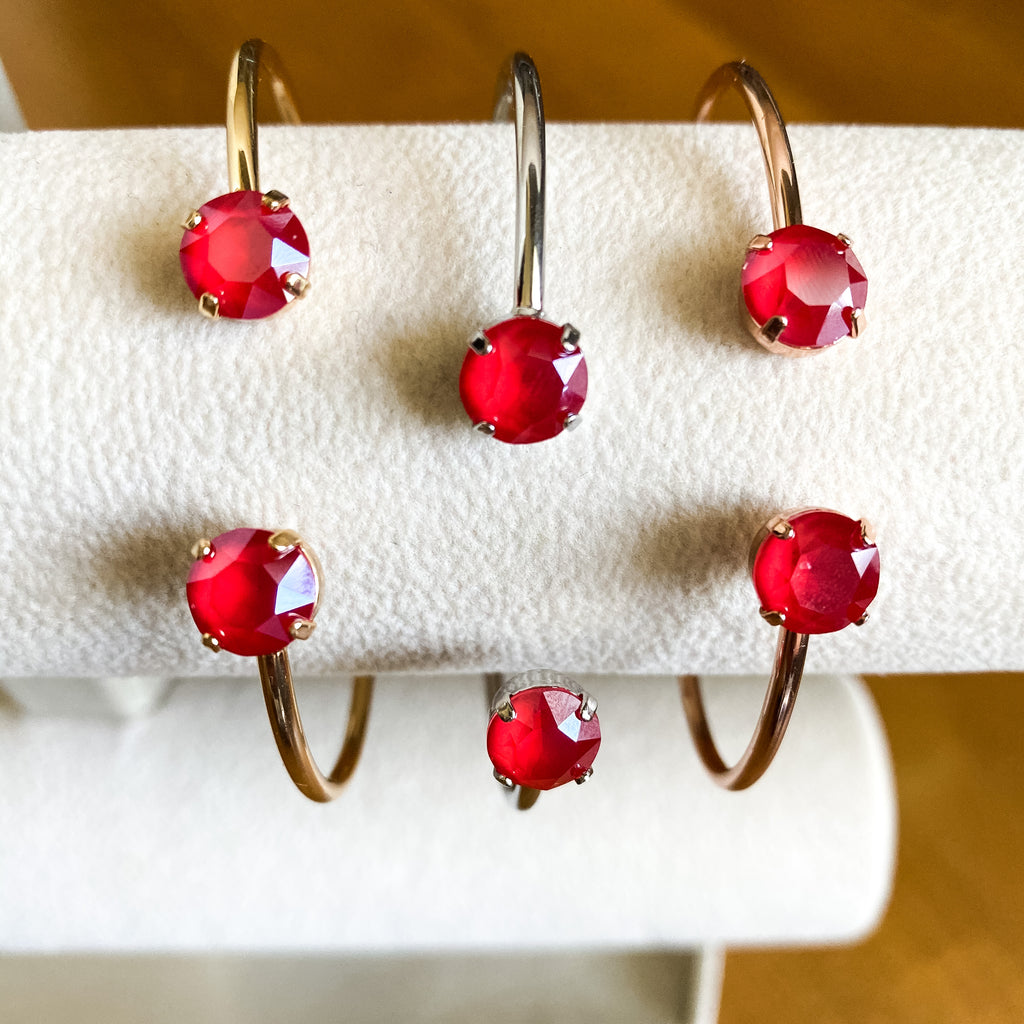 Royal Red Swarovski Balance Bangle