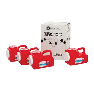 1.2 Gallon Sharps Disposal Container System (4-Pack)