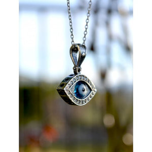 Sterling Silver Evil Eye , Lucky Eye Necklace-92
