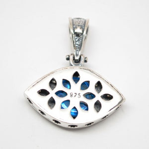 Sterling Silver Evil Eye , Lucky Eye Necklace-94