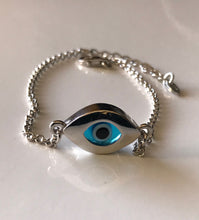 Load image into Gallery viewer, 925 Sterling Silver Double Sided Evil Eye Bracelet