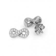Load image into Gallery viewer, 925 Sterling Silver Infinity Earrings