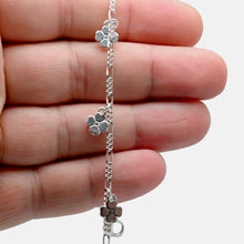 Load image into Gallery viewer, 925 Sterling Silver Dangling Flower Anklet