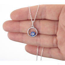 Load image into Gallery viewer, 925 Sterling Silver Round Evil Eye in a Round frame