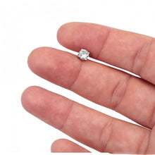 Load image into Gallery viewer, 925 Sterling Silver Single Stone CZ Stud Earrings