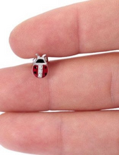 Load image into Gallery viewer, 925 Sterling Silver LadyBug Earring