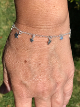 Load image into Gallery viewer, Sterling Silver Dangling Stars Bracelet