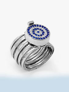 925 Sterling Silver Evil Eye Interchangeable Bracelet to Ring -156