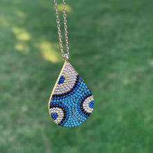 Load image into Gallery viewer, 925 Sterling Silver Nano Turquoise Teardrop Necklace