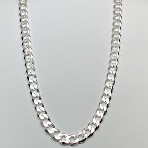 Sterling Silver 9.5MM Cuban Link Chain Necklace