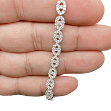 Load image into Gallery viewer, 925 Sterling Silver Oval Cable Design Adjustable Tennis Bracelet