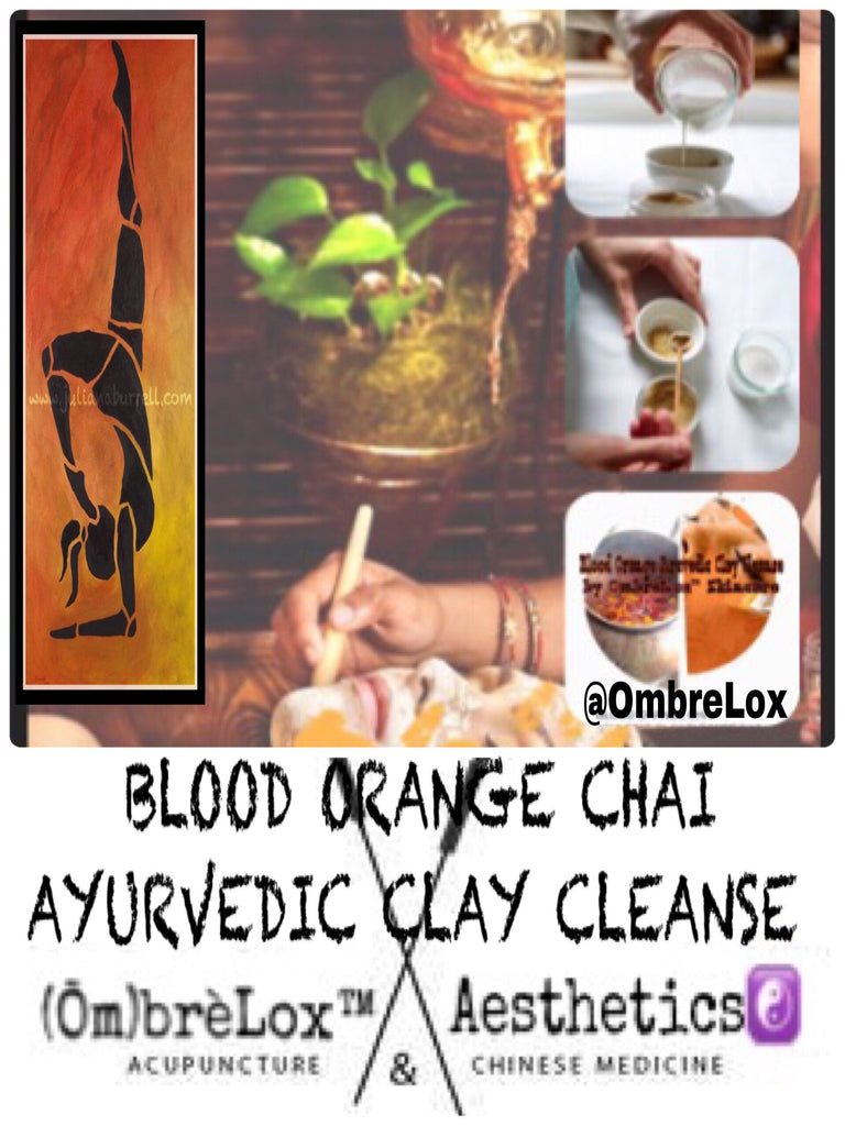 BLOOD ORANGE CHAI AYURVEDIC CLAY CLEANSE by OmbrèLox™ Skincare