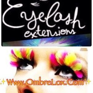 OmbréLox™ Eyelash Extensions In (PINK CANARY)