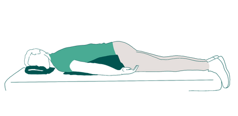 How to do a deep breathing exercise while laying on a stomach?