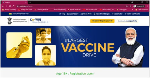 How to Register for coronavirus vaccine in India for above 18 | Regsiter For Coronavirus Vaccine on CoWin Official Portal Now