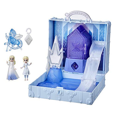 Disney Frozen 2 Pop Adventures Ahtohallan Adventures Pop-Up Playset with Handle, Including 2 Elsa Dolls, Toy for Kids