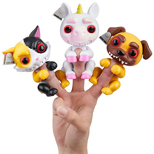 WowWee Grimlings - Pug - - Unicorn - - Cat -Interactive Animal Toy