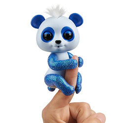 WowWee Fingerlings Glitter Panda - Archie (Blue) - Interactive Collectible Baby Pet