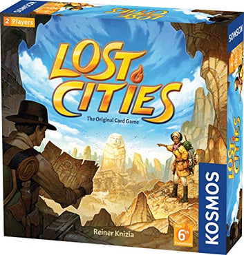 Lost Cities Card Game - with 6th Expedition | Two-Sided Board for Classic or New Edition | by Reiner Knizia | A Kosmos Game by Thames & Kosmos