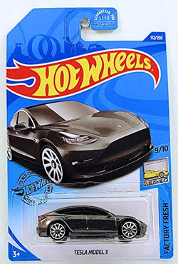 Hot Wheels 2020 Factory Fresh Tesla Model 3 112/250, Gray