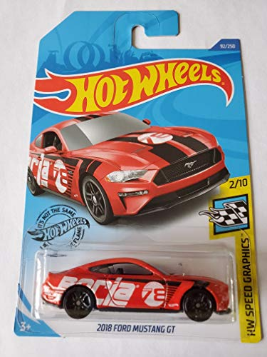 Hot Wheels 2020 Hw Speed Graphics 2018 Ford Mustang GT, Red 92/250