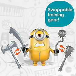 Minions: The Rise of Gru Movie Moments Martial Arts Minions Action Figure Interactive Toy with Articulation & Kung Fu Movie Scene Training Accessories, Great Gift for 4 Years & Older Minion Fans
