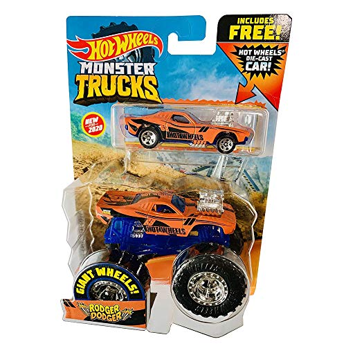 Mattel HW MT 164 2PK Monster Trucks 2020 with Free diecast car