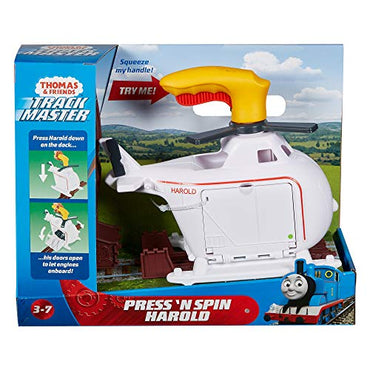 Thomas & Friends Fisher-Price Press 'n Spin Harold Helicopter By Fisher-Price