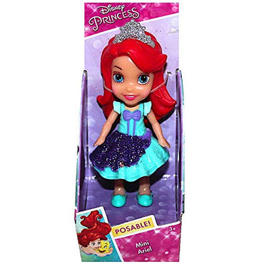 Disney Princess Poseable Ariel Little Mermaid Sparkle Collection Mini Toddler Doll 3""