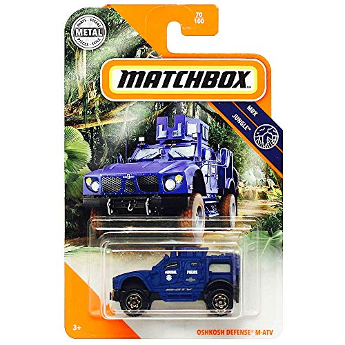 Matchbox Federal Police OshKosh Defense M-ATV MBX Jungle Diecast 1/64