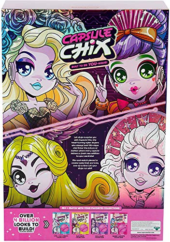 Capsule Chix Ultimix 4 Pack, 4.5 inch Small Doll with Capsule Machine Unboxing and Mix and Match Fashions and Accessories