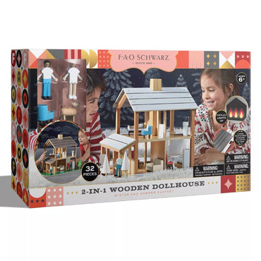 FAO Schwarz New Seasons Wooden Dollhouse