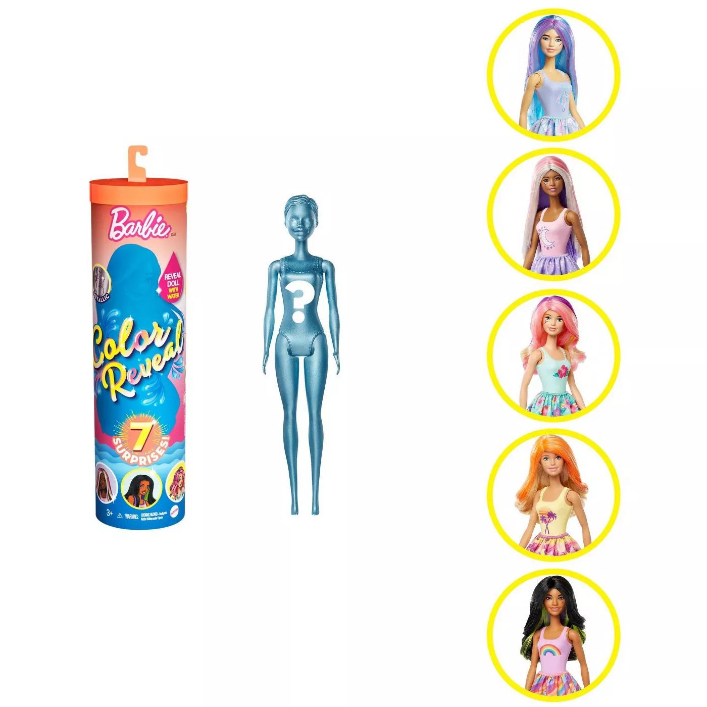 Barbie Color Reveal Sunny 'N Cool Series Dolls - Styles May Vary