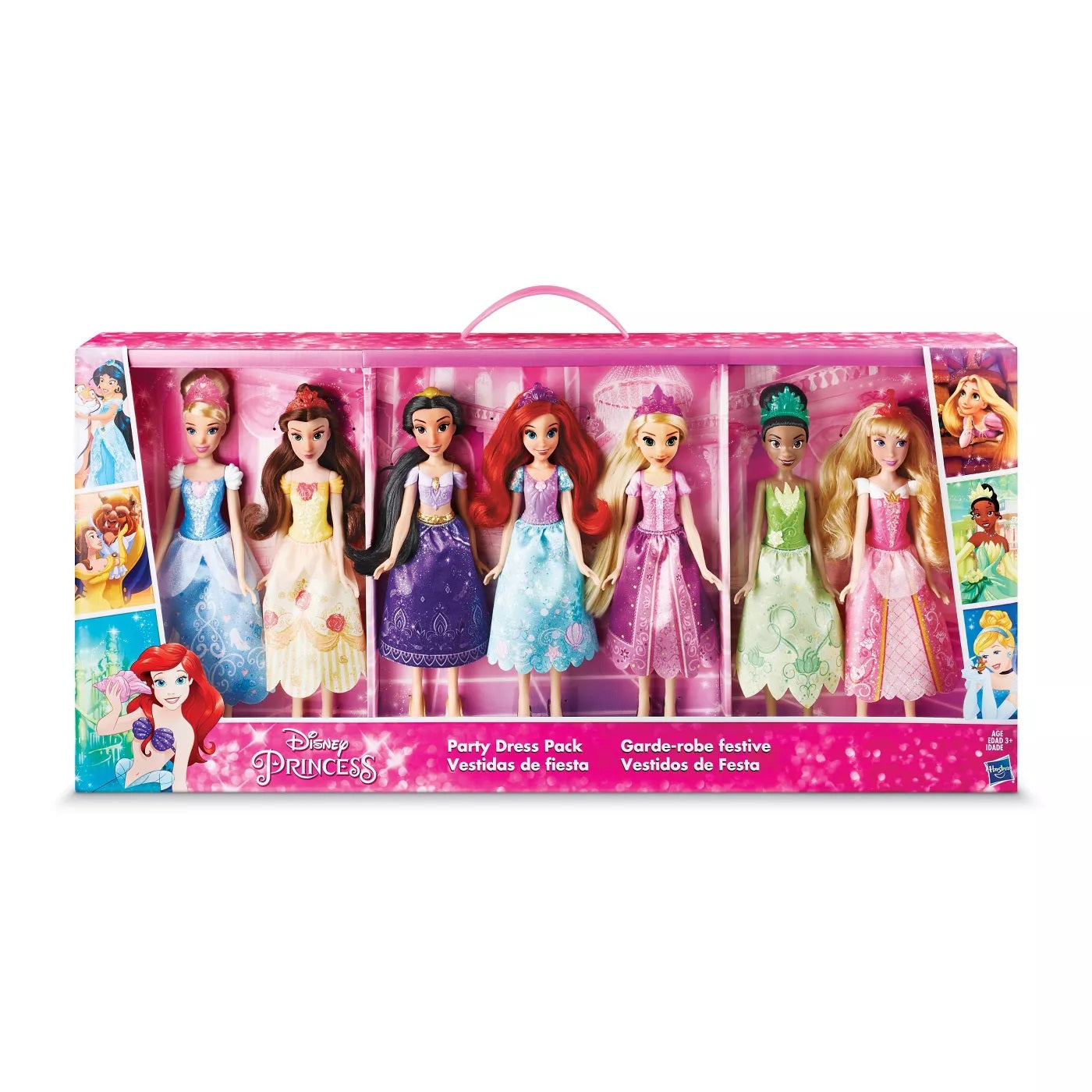 Disney Princess Party Dress Pack - Set of 7 Dolls